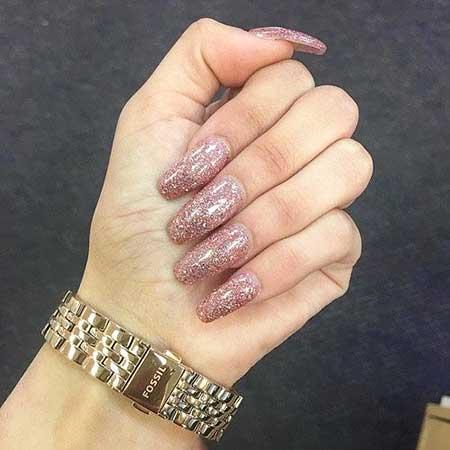 Glitter Acrylics, Gel, Pink, Art, Sparkle
