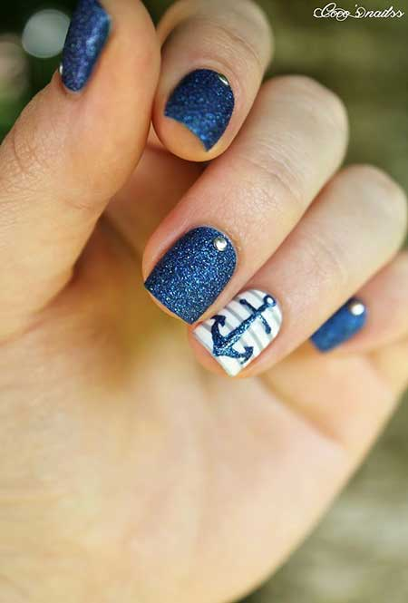 Polish, Blue, Blue Nail Polish, Glitter, Art, Picture Polish, One