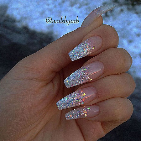Coffin Nail Design, Nails Nail Gel Glitter
