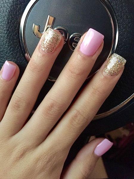 Nail Gold Square Glitter