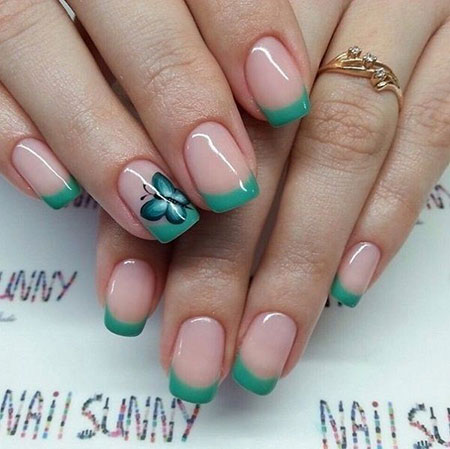 Designs Nail French Blue