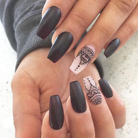 Nails Nail Coffin Black