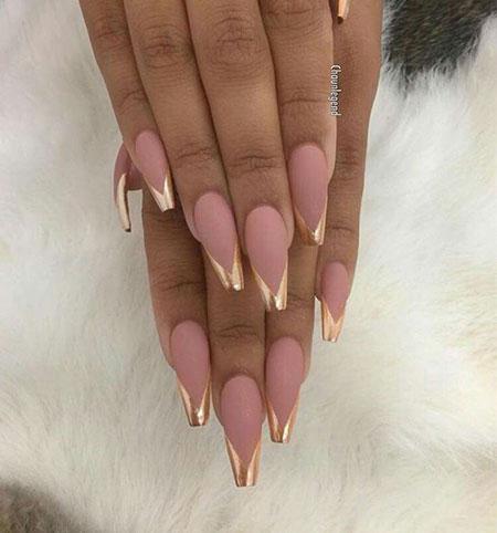 Nail Nails Coffin Gold
