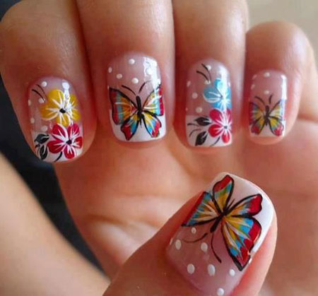 Butterfly Nail Art Nails