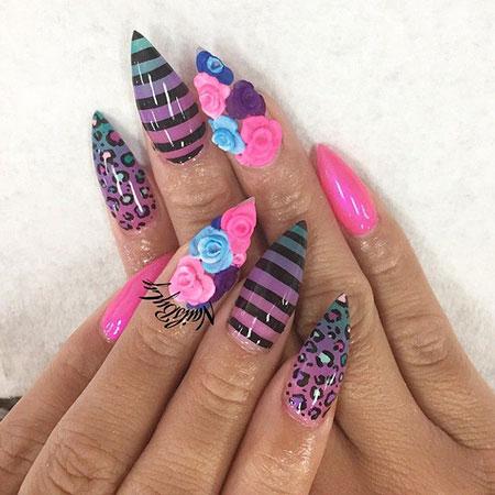 Nails Nail Pointy Pink