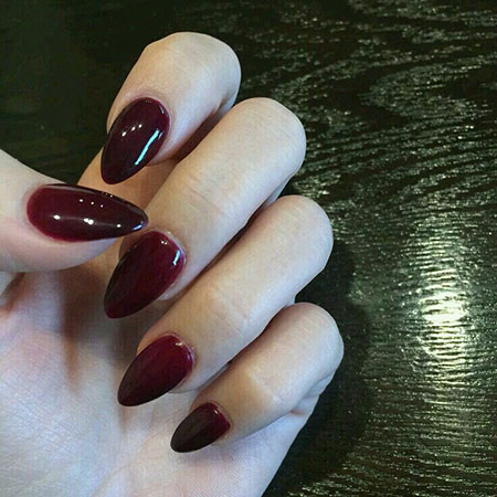 Nail Nails Almond Red