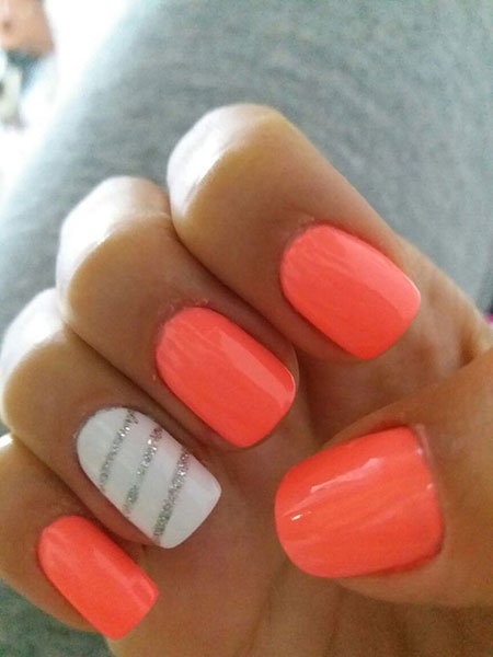 Nail Nails Summer Bright