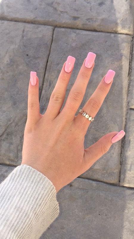 Nails Long Pink Short