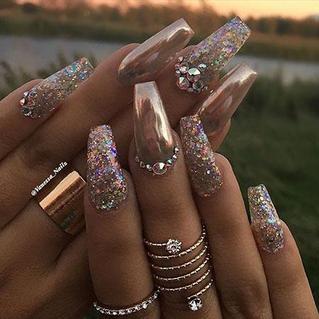 Nail Nails Coffin Glitter