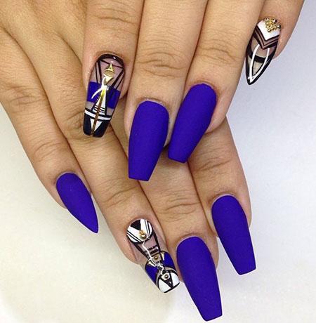 Blue Nails Nail Matte