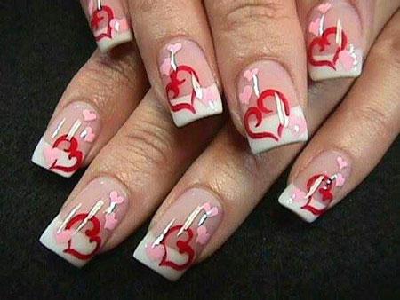 2018 Valentines Day Nail Art, Nails Nail Valentines Heart