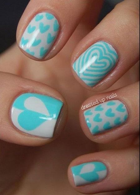 Cute Simple Nail Design, Nail Art Heart Nails