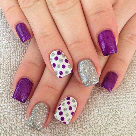 Cute Purple Nails Design, Nail Nails Easy Ideas