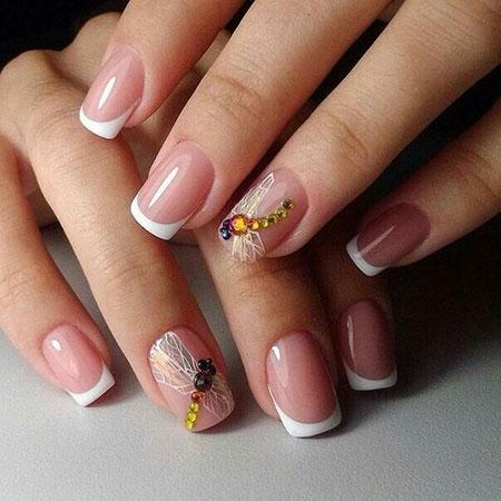 Dragonfly Pattern Nail Art, Nail Manicure Design Nails