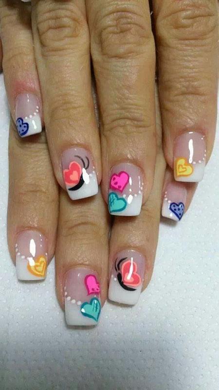 Nail Design with Hearts, Nail Nails Heart Polish