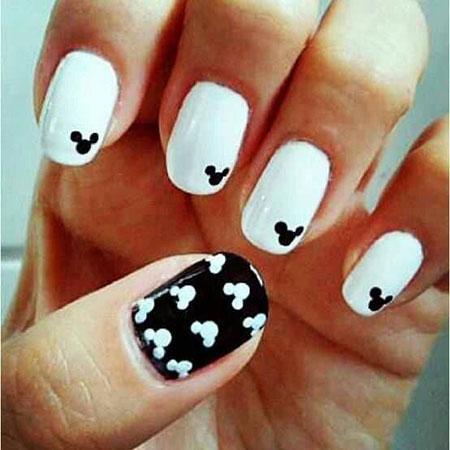 Mickey Mouse Easy Nail Art, Mickey Nails Mouse Nail