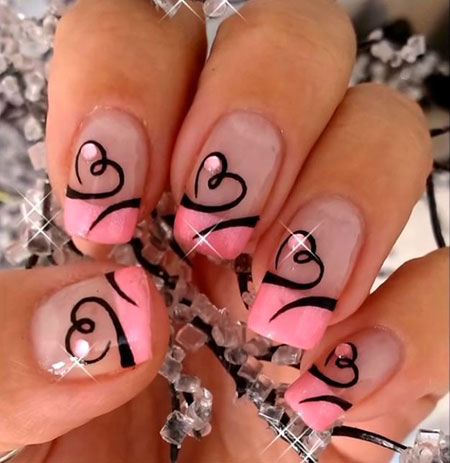 medium length red valentines day coffin nails  nail and