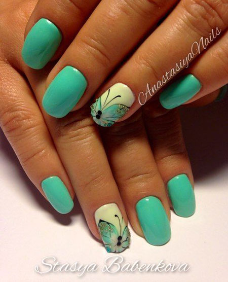 Nail Summer Butterfly Manicure