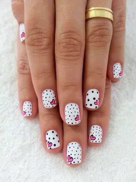 Nail Heart Manicure Dot