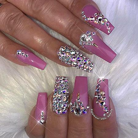Rhinestone Nail Design, Nails Nail Luxury Toes