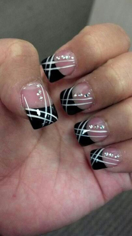 Black and White Nail Design, Nail Black White Nails