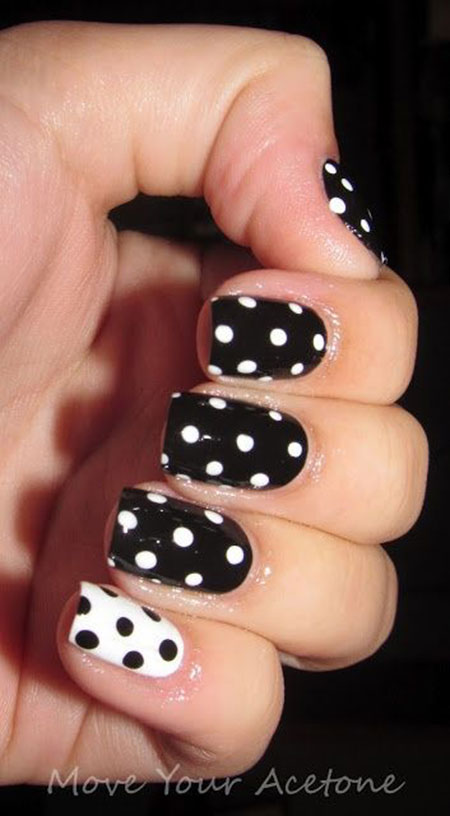 Dot Polka Nail Nails