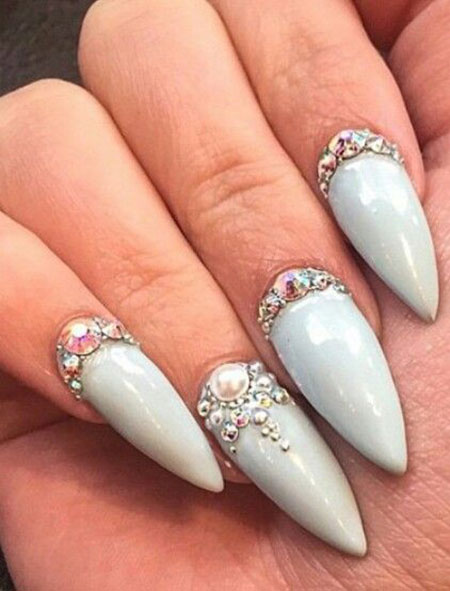 Nail Design Nails Rhinestone