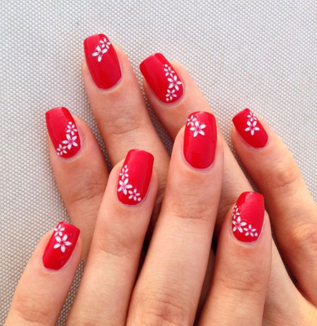 Nail Red Simple Manicure