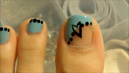 Nail Toe Blue Halloween