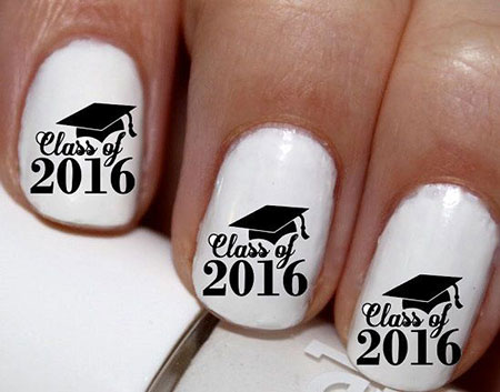 Nail Art Graduation Stickers