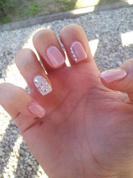 Pink Nails Nail Manicure
