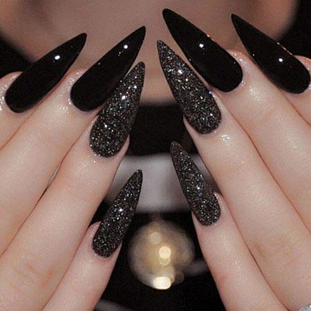 Nails Nail Stiletto Black