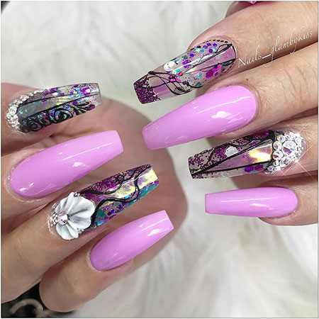 Nail Nails Coffins Nageldesign