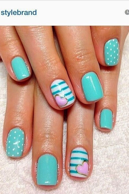 Nail Teal Nails Love