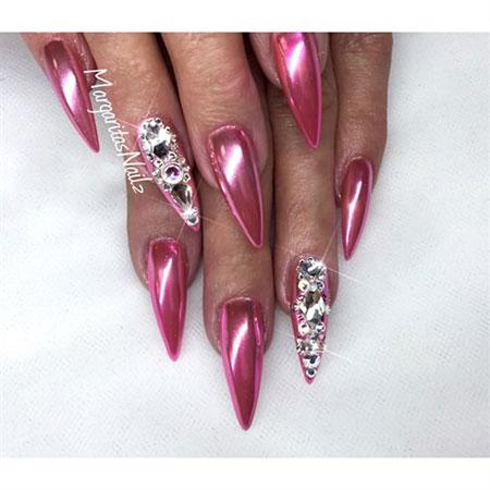 Nail Nails Pink Swarovski