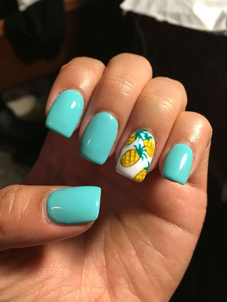 Nail Summer Cute Teal
