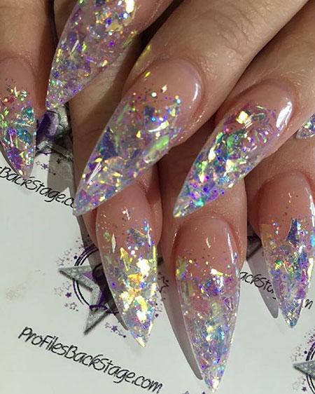 Gorgeous Metallic Glitters, Nail Acrylic Nails Photo