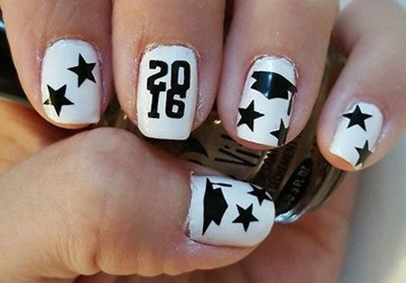 Graduation Cap Nail Art, Nail Graduation Art Halloween