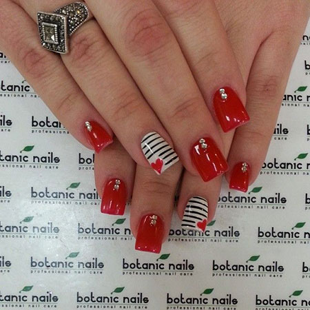 Nails Nail Red Valentine