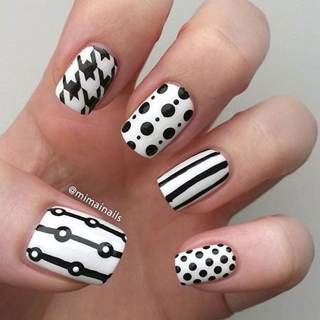 Nail White Dot Nails