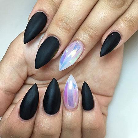 Nail Nails Stiletto Dark