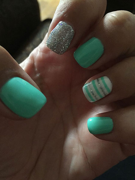 Green Teal Nail Design, Nail Teal Nails Cute