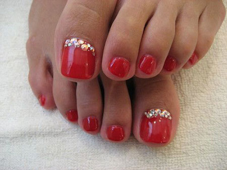 Nail Red Toenails Toe
