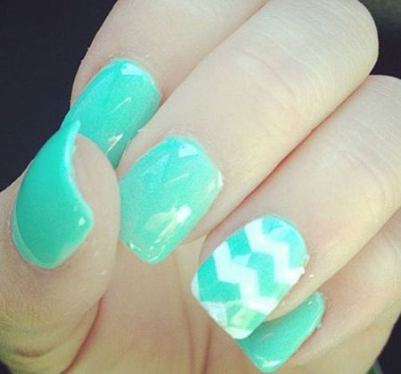 Short Aqua Nail Design, Nail Nails Ideas Cute