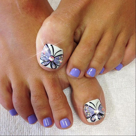 Butterfly Nail Design, Butterfly Toe Kiss Toes