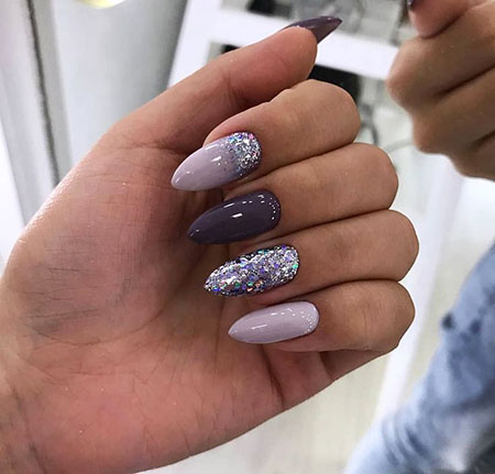 Fake Nails Design 2018, Manicure Fake Stiletto Almond