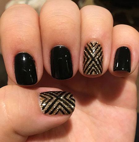 Black Gold Manicure