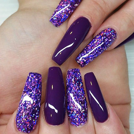 Purple Photo Glitter Acrylic
