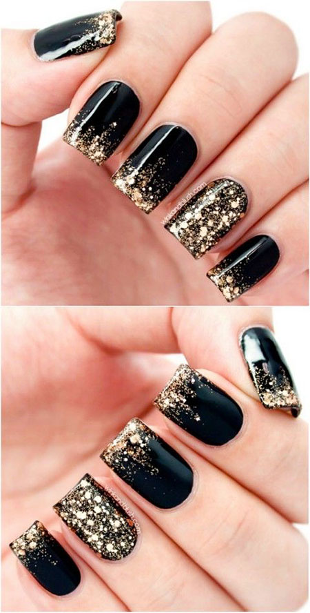 Black Acrylic Gold Top
