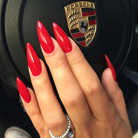 Stiletto Red Manicure Team